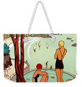 Dinard, French Riviera, Two Swimmers  Weekender Tote Bag