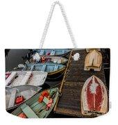 Dinghies At Town Wharf Weekender Tote Bag