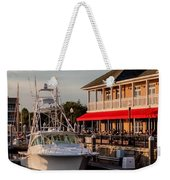 Dining At The Marina Weekender Tote Bag