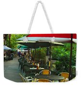 Dining Under The Umbrellas Weekender Tote Bag