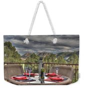Dining With A View Weekender Tote Bag