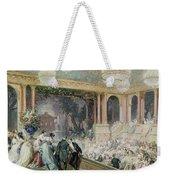 Dinner At The Tuileries Weekender Tote Bag by Henri Baron