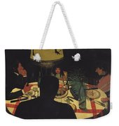 Dinner By Lamplight Weekender Tote Bag by Felix Edouard Vallotton