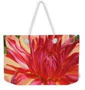 Dinner Plate Dahlia Flower Art Print Orange Baslee Troutman Weekender Tote Bag