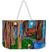 Dinner In The Woods Weekender Tote Bag