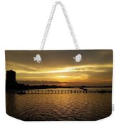 Dinning With Sunset  Weekender Tote Bag