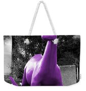 Dino Selective Coloring In Ultra Violet Purple Photography By Colleen Weekender Tote Bag