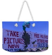 Dinosaur Sign Take Pictures Now Weekender Tote Bag
