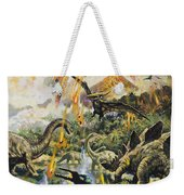 Dinosaurs And Volcanoes Weekender Tote Bag
