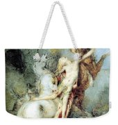 Diomedes Devoured By His Horses Watercolour Gustave Moreau Weekender Tote Bag