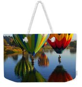 Dipping The Basket Weekender Tote Bag by Mike  Dawson