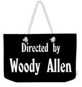 Directed Woody Allen Weekender Tote Bag