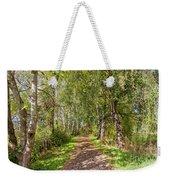 Dirt Path In A Birch Grove  Weekender Tote Bag