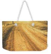 Dirt Road Sunrise Weekender Tote Bag
