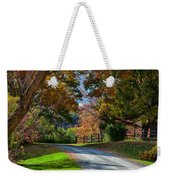 Dirt Road Through Vermont Fall Foliage Weekender Tote Bag