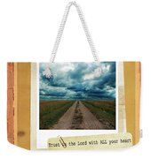 Dirt Road With Scripture Verse Weekender Tote Bag