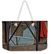 Dirty Red Umbrella Weekender Tote Bag