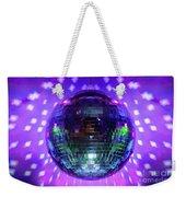 Disco Ball Purple Weekender Tote Bag