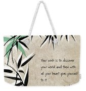Discover Your World Weekender Tote Bag by Linda Woods