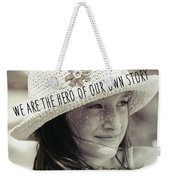 Discover Yourself Quote Weekender Tote Bag