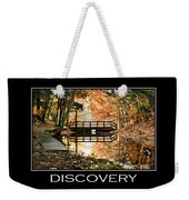 Discovery Inspirational Motivational Poster Art Weekender Tote Bag by Christina Rollo