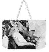 Discus Champion Bud Houser Weekender Tote Bag