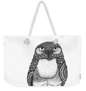Disgruntled Owl Weekender Tote Bag