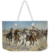 Dismounted The Fourth Troopers Moving The Led Horses Weekender Tote Bag
