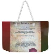 Disney World Christmas In The United States Scroll Weekender Tote Bag