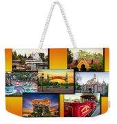 Disneyland Collage 02 Yellow Weekender Tote Bag