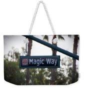 Disneyland Magic Way Street Signage Weekender Tote Bag