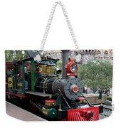 Disneyland Railroad Engine 3 With Castle Weekender Tote Bag