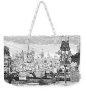 Disneyland Small World Panorama Pa Bw Weekender Tote Bag