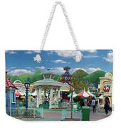 Disneyland Toontown Young Man Proposing To His Lady Panorama Weekender Tote Bag
