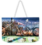 Display Lady Liberty Copper Bike Ny Weekender Tote Bag