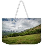 Distant Snow-capped Mountains Weekender Tote Bag