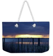 Distant Storms At Sunset Weekender Tote Bag