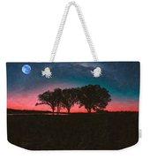 Distant Trees Under Milkyway Horizon By Adam Asar 3 Weekender Tote Bag