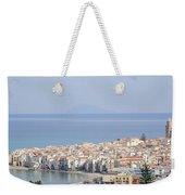 Distant View Of Cefalu Sicily Weekender Tote Bag