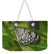 Distinctive Side Profile Of A White Tree Nymph Butterfly Weekender Tote Bag