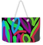 Distorted Geometry Weekender Tote Bag
