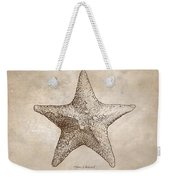 Distressed Antique Nautical Starfish Weekender Tote Bag