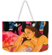 Ditched, Nightclub Bar Painting Weekender Tote Bag