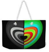 Divided Heart Weekender Tote Bag