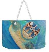 Diving Sea Turtle Weekender Tote Bag