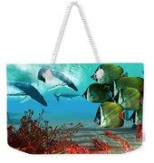 Diving Whales Weekender Tote Bag