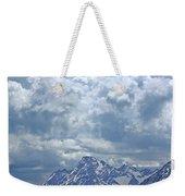 Dm9233 Clouds Over Mt. Moran V Weekender Tote Bag