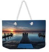 Dnr West Boat Launch Sunrise Weekender Tote Bag