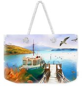 Do-00095 Boat Near Rotorua Weekender Tote Bag