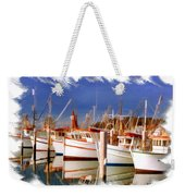 Do-00096 Boats In Nelson Bay Early 90s Weekender Tote Bag